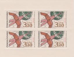Czechoslovakia Scott 1651 1969 16th UPU Congress, Sheetlet, Mint Never Hinged - Blocks & Sheetlets