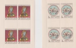 Czechoslovakia Scott 1689-1690 1970 Prague Castle Art, Sheetlets, Mint Never Hinged - Blocks & Sheetlets