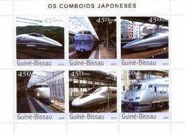 Guinea Bissau 2003 Trains Of Japan - Guinea-Bissau