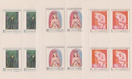 Czechoslovakia Scott 1711-1715 1970 Paintings, Sheetlet, Mint Never Hinged - Blocks & Sheetlets