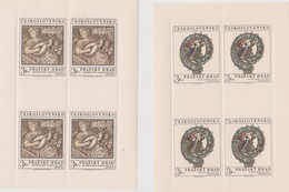 Czechoslovakia Scott 1752-1753 1971 Sheetlet, Mint Never Hinged - Blocks & Sheetlets