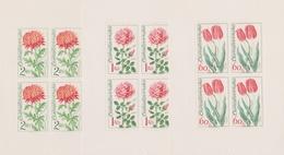 Czechoslovakia Scott 1890-1 And 1894 1973 Flowers, Sheetlets, Mint Never Hinged - Blocks & Sheetlets