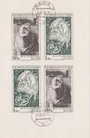 Czechoslovakia Scott 1904-1905 1973 Svabinsky St. John, Sheetlet, Used - Blocks & Sheetlets