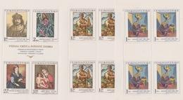 Czechoslovakia Scott 1908-09, 1911 1973 Paintings, Sheetlets, Mint Never Hinged - Blocks & Sheetlets