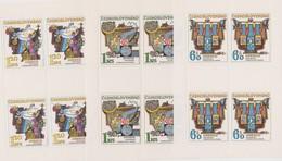 Czechoslovakia Scott 1931-1935 1974 Hydrological Decade, Sheetlets, Mint Never Hinged - Blocks & Sheetlets