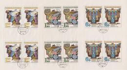 Czechoslovakia Scott 1931-1935 1974 Hydrological Decade, Sheetlets, Used - Blocks & Sheetlets