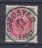 Denmark 1875 Mi. 25 I Y A C   8 Øre Ziffern Im Rahmen Graublau/anilinrot DELUXE Pracht Lapidar GJEDSTED Cds Perf. 14x13½ - 1864-04 (Christian IX)