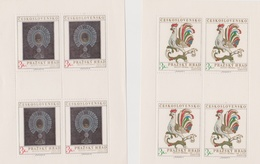Czechoslovakia Scott 1937-1938 1974 Prague Castle Art, Sheetlets, Mint Never Hinged - Blocks & Sheetlets