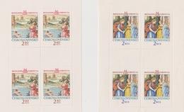 Czechoslovakia Scott 1950-1951 1974 Paintings, Sheetlets, Mint Never Hinged - Blocks & Sheetlets