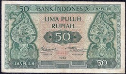 Indonesia 50 Rupiah 1952 REPLACEMENT Banknote (VF) - Indonésie