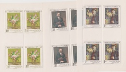 Czechoslovakia Scott 1980-1984 1974 Paintings, Sheetlets, Mint Never Hinged - Blocks & Sheetlets