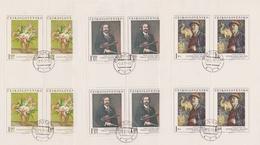 Czechoslovakia Scott 1980-1984 1974 Paintings, Sheetlets, Used - Blocks & Sheetlets