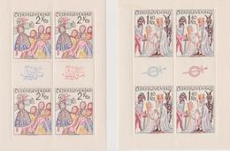 Czechoslovakia Scott 1996-1999 1975 Folk Costumes, Sheetlets, Mint Never Hinged - Blocks & Sheetlets