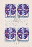 Czechoslovakia Scott 2028 1975 Space Research International Cooperation, Sheetlets, Used - Blocks & Sheetlets