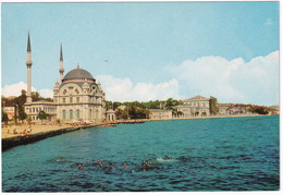 Istanbul - The Dolmabahce Mosque And Palace - Swimming In The Sea - (Türkiye) - Turkije