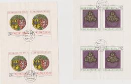 Czechoslovakia Scott 2040-2041 1975 Prague Castle Art, Sheetlets, Used - Blocks & Sheetlets