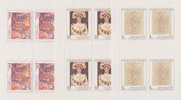 Czechoslovakia Scott 2043-2047 1975 Paintings, Sheetlets, Mint Never Hinged - Blocks & Sheetlets
