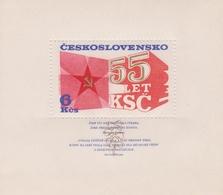 Czechoslovakia Scott 2070 1976 Communist Party 55th Anniversary, Souvenir Sheet, Mint Never Hinged - Czechoslovakia