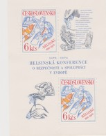 Czechoslovakia Scott 2076 1976 European Security And Cooperation Conference, Sheetlet, Mint Never Hinged - Blocks & Sheetlets
