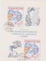 Czechoslovakia Scott 2076 1976 European Security And Cooperation Conference, Sheetlets, Used - Blocks & Sheetlets