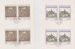Czechoslovakia Scott 2081-2082 1976 Prague Castle Art, Sheetlets, Used - Blocks & Sheetlets
