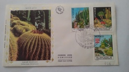 MONACO ..1°  Jour.d'émission..FDC ..1983 ..  Jardin  Exotique .. Collection  Botanique - Joint Issues