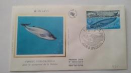 MONACO ..1°  Jour.d'émission..FDC ..1983 ..  Comité International Pour La Protection De La Baleine - Joint Issues