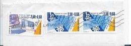 Frankreich 323, Fragment Mit 3 Marken, Tag Der Briefmarke 1990 - Frankreich