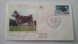 MONACO ..1°  Jour.d'émission..FDC ..1983..  EXPOSITION  CANINE INTERNATIONALE.. L'alaskan Malamute - Joint Issues