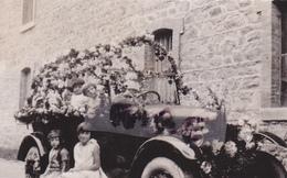PHOTO ANCIENNE,22,COTE D'ARMOR,CORLAY,LA FETE DES FLEURS,RARE - Places