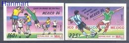 Mali 1986 MNH ( ZS5 MLI1068-1069B ) - Coupe Du Monde