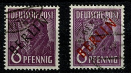 Ref 1270 - 1949 Germany Berlin SG B2 & B22 - 6pf - 2 X Fine Used Stamps Cat £20+ - [5] Berlin