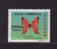 Ecuador 1997, 2.000 Sucres, Butterfly, Minr 2382, Vfu. Cv 4,20 Euro - Ecuador