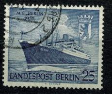 Ref 1270 - 1955 Germany Berlin SG B124 - 25pf M.S. Berlin Liner Ship - Very Fine Used Stamp - [5] Berlin