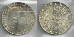 AUSTRIA 1971 - Julius Raab - 50 Schilling SPL / FDC - Argento / Argent / Silver - Confezione In Bustina - Austria