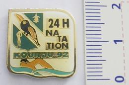PIN'S - NATATION - 24 HEURES DE LA NATATION - 1992 - KOUROU - GUYANE FRANÇAISE - Swimming