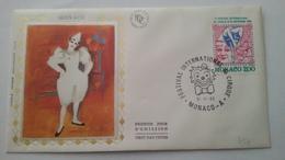 MONACO ..1°  Jour.d'émission..FDC ..1983.. .. 9° Festival International Du Cirque - Joint Issues