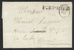 LSC - PARIS -  PORT PAYÉ + 60 ENCANDRÉ OCTOGONAL - BUREAU B - - 1801-1848: Précurseurs XIX