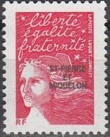 Saint-Pierre & Miquelon 2002 Yvert 783 Neuf ** Cote (2015) 2.00 Euro Marianne Du 14 Juillet - St.Pierre Et Miquelon