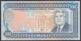 TURKMENISTAN - 100 Manat 1995 UNC P.6 B - Turkménistan