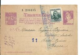 Entier Postal Espagne - France Avec Censure Republica Espanola , 1938 - 1931-Aujourd'hui: II. République - ....Juan Carlos I