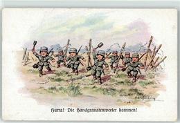 52923539 - Sign. Hoffmann Ad. Kind In Uniform Handgranatenwerfer - War 1914-18