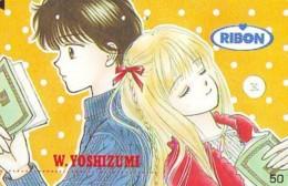 Télécarte Japon * MANGA * Comics * RIBON  (16.787)  Japan PHONECARD * TELEFONKARTE * CINEMA * FILM - BD