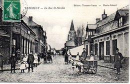 Leforest : La Rue St-Nicolas (attelage De Chien) - Autres Communes