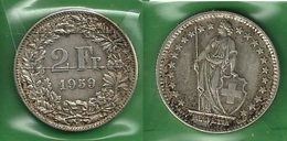 SVIZZERA 1959 - Helvetia - 2 Fr / CHF - BB / SPL  - Argento / Argent / Silver - Confezione In Bustina - Svizzera
