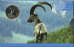 SVIZZERA 2007 - Parc Naziunal - DIVISIONALE FDC - N.° 9 Pezzi - Con 5 + 10 CHF (Fr. Sv.) - Confezione Originale (3 Foto) - Svizzera