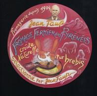 Etiquette Fromage Fermier Des Pyrennées Pur Brebis  Jean Faup Bethmale  Ariege 09 - Fromage