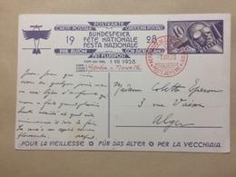 SWITZERLAND - 1928 National Fete - Geneve To Marseille Luftpost - Bundesfeier Fete Nationale - Switzerland