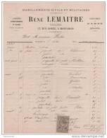45 MONTARGIS FACTURE Habillements Civils Et Militaires René LEMAITRE  Tailleur 1882 -- P12 LOIRET - France