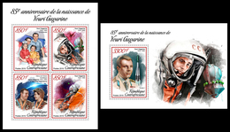 CENTRAL AFRICA 2019 - Space, Yuri Gagarin, M/S + S/S Official Issue - Space